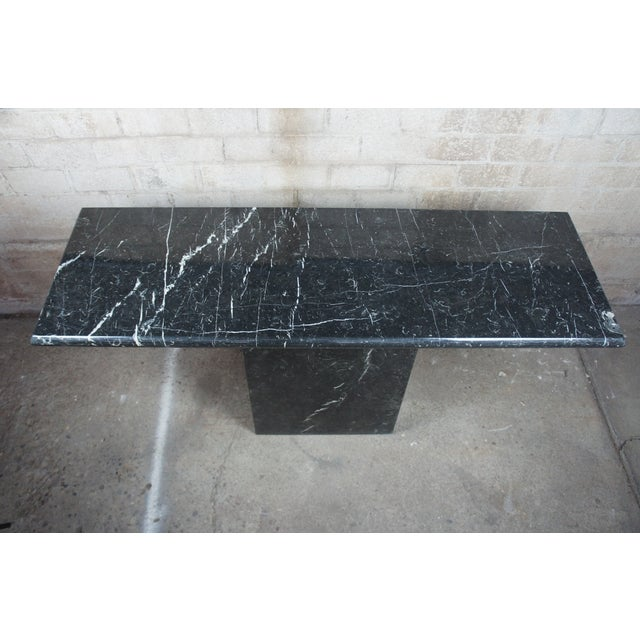 Mid Century Modern Black Italian Marble Console or Sofa Table For Sale - Image 6 of 10