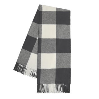 Charcoal Buffalo Check Throw For Sale