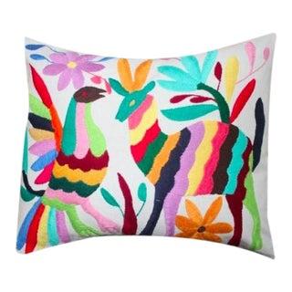 Multicolor Tenango Pillow