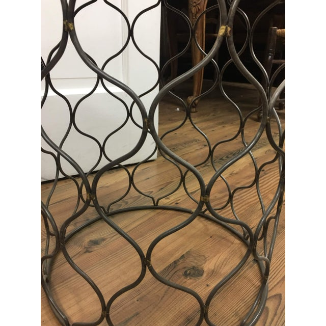 Yellow Iron Arabesco Side Table with Mango Wood Top For Sale - Image 8 of 12