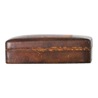 20th Century Rustic Leather Box For Sale