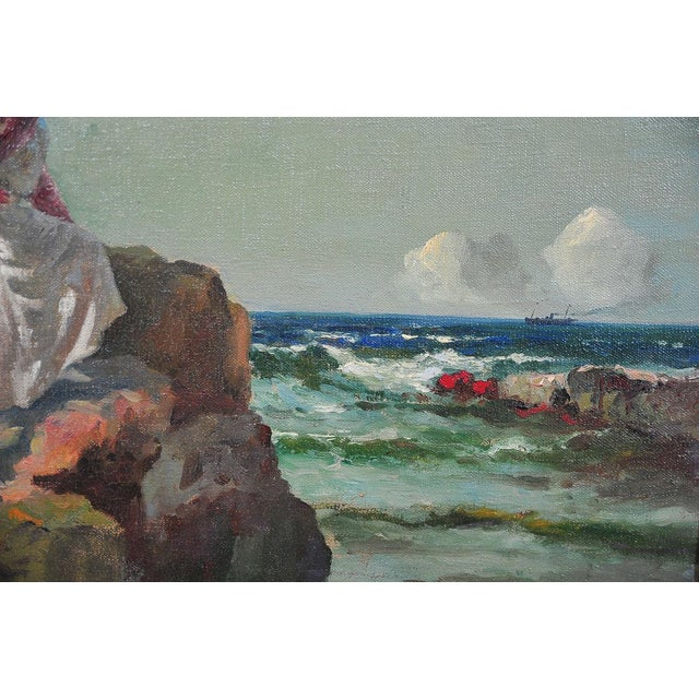"""""""Woman Looking at Sea,"""" Painting by A. Neogrady - Image 4 of 9"""