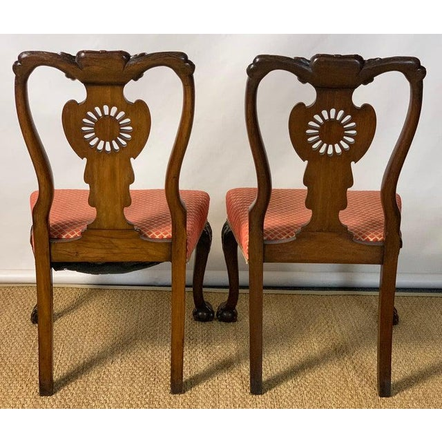 Mid-19th Century Chippendale Style Carved Mahogany Side Chairs For Sale - Image 4 of 13