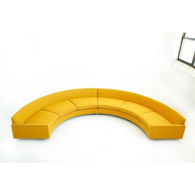 Thayer Coggin Milo Baughman Semi-Circle Sectional Sofa For Sale - Image 4 of 10