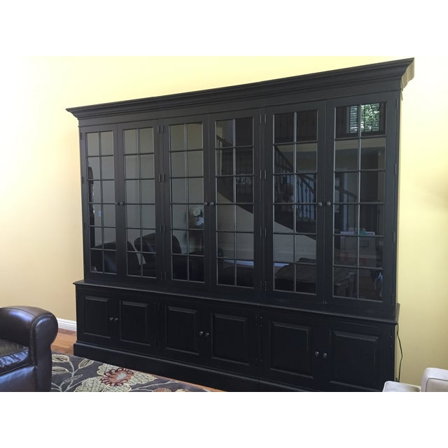 Black Ethan Allen Villa Triple Bookcase - Image 4 of 8