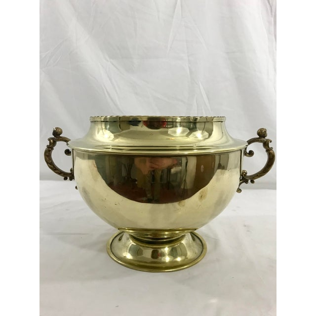 English 19th Century Brass Cache Pot For Sale - Image 6 of 6