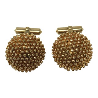 Late 20th Century Vintage Christian Dior Fashion Gold Tone Cufflinks For Sale