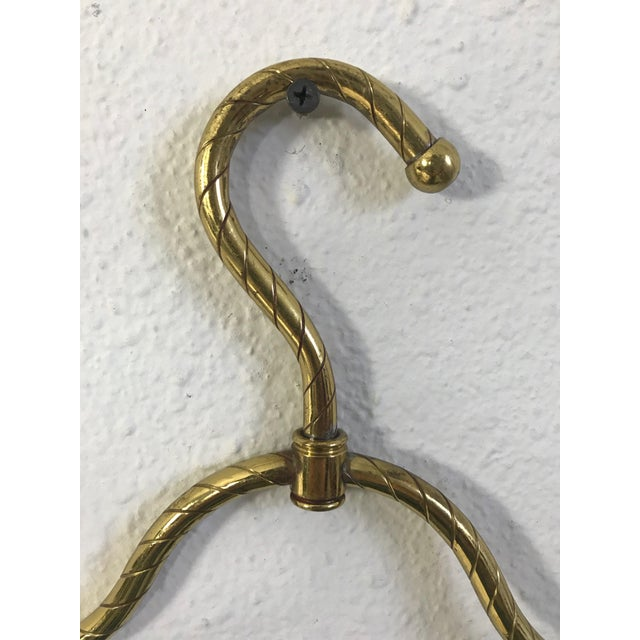 Vintage Mid-Century Brass Clothes Hanger For Sale - Image 4 of 9