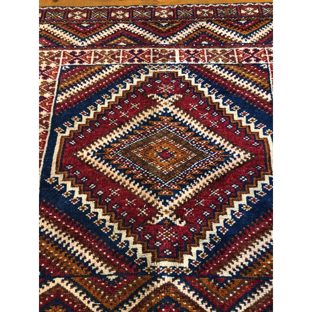 1950s Vintage Moroccan Hand Knotted Rug- 5′ × 8′6″ For Sale - Image 4 of 10