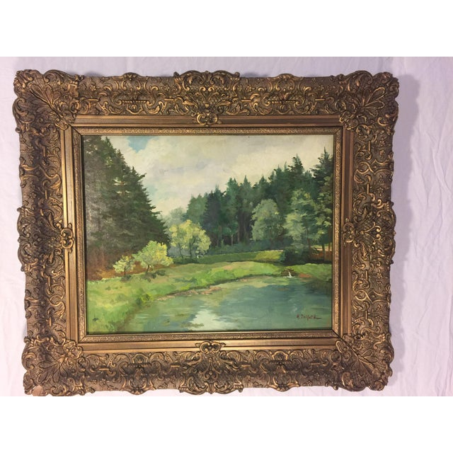 European Landscape Oil Painting on Board - Image 3 of 3