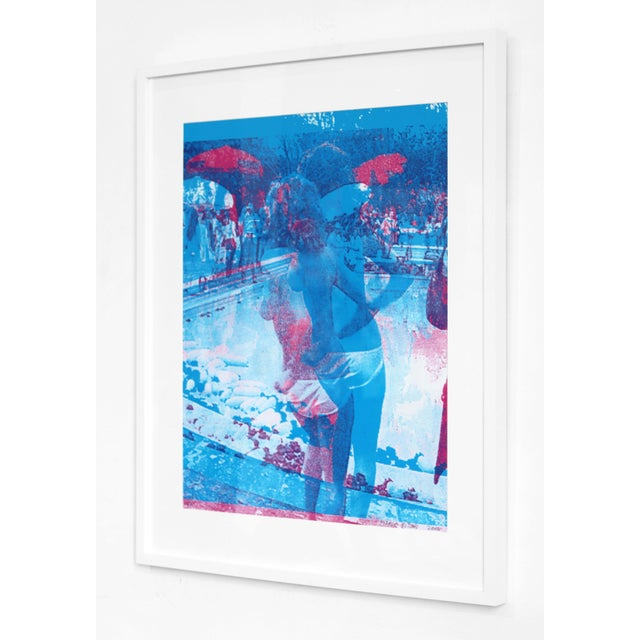 "Photography ""Blue Swimming Pool"" Original Artwork by Marco Pittori For Sale - Image 7 of 9"