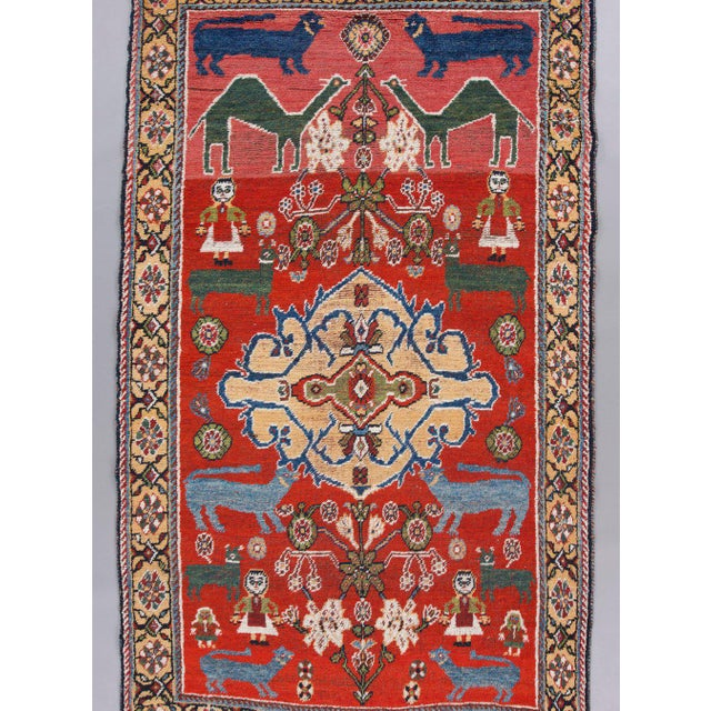 Islamic Qaashqai Wool Rug - ′4″ × 7′6″ For Sale - Image 3 of 4