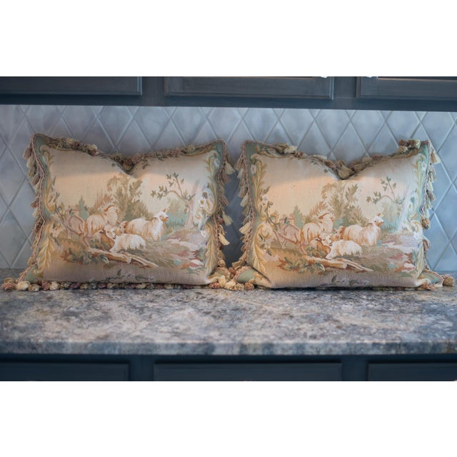 Vintage French Petti-Pointe Pillows - A Pair - Image 2 of 5