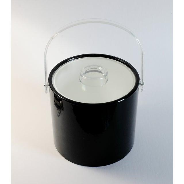 Black & Lucite Ice Bucket - Image 3 of 7