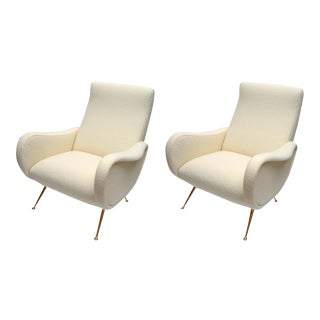 Italian Zanuso Style Chairs - A Pair For Sale