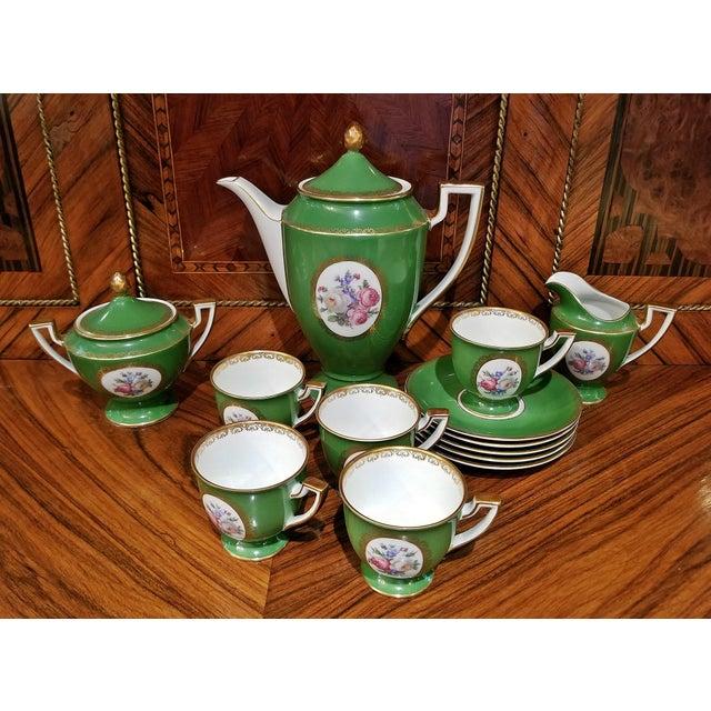 Vintage German Porcelain Royal Tettau Complete Coffee Service - 13 Pc. Set For Sale - Image 4 of 7