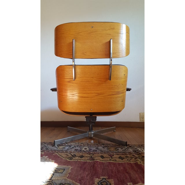 Vintage Eames Style Chocolate Selig Plycraft Lounge Chair For Sale In Baltimore - Image 6 of 11