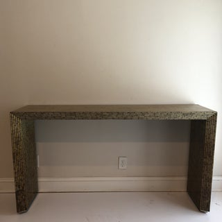 1970s Modern Faux Painted Bamboo Console Table Preview