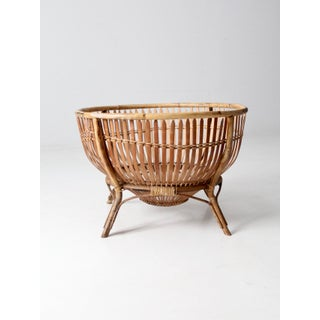 Mid-Century Rattan Basket Preview