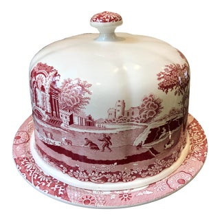 Italian Spode Porcelain Dome Plate For Sale
