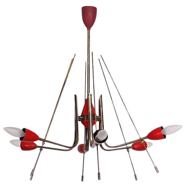 Mid-Century Modern Italian Sputnik Chandelier For Sale