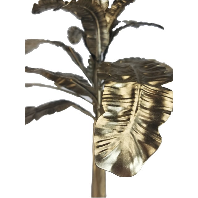 2000 - 2009 Art Deco Revival Hollywood Regency Brass Palm Tree Sculpture For Sale - Image 5 of 7