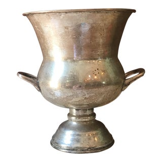 Silver Pedestal Champagne Bucket For Sale