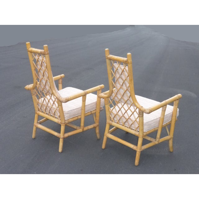 Vintage Mid Century Bamboo Chairs - A Pair - Image 7 of 10