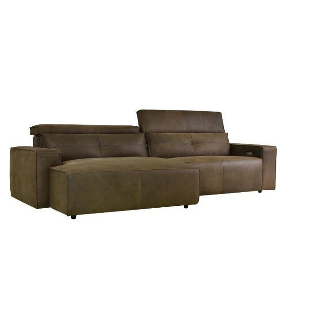 2020s Kenneth Lugwig Davis Top Grain Leather Sectional For Sale - Image 5 of 7