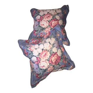 Vintage Ralph Lauren Country Floral Custom Pillows - a Pair For Sale