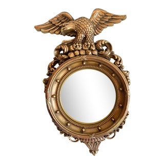 Federal Style Convex Eagle Mirror by Syroco For Sale