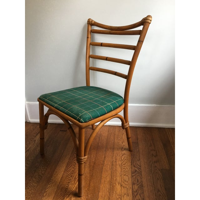 1940s Boho Chic Scorched Bamboo Accent Chair For Sale - Image 13 of 13