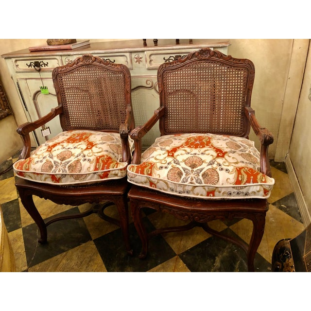 French French Caned Chairs - a Pair For Sale - Image 3 of 11