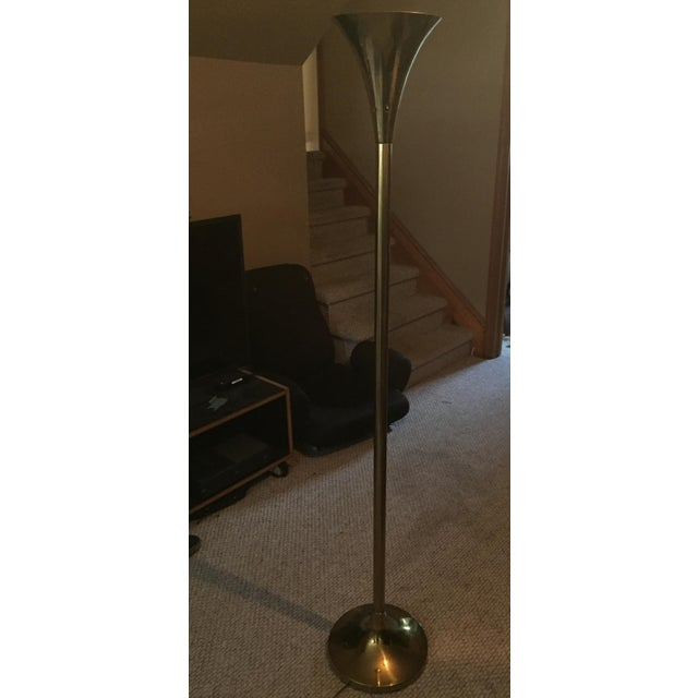 Brass Trumpet Floor Lamp - Image 2 of 5