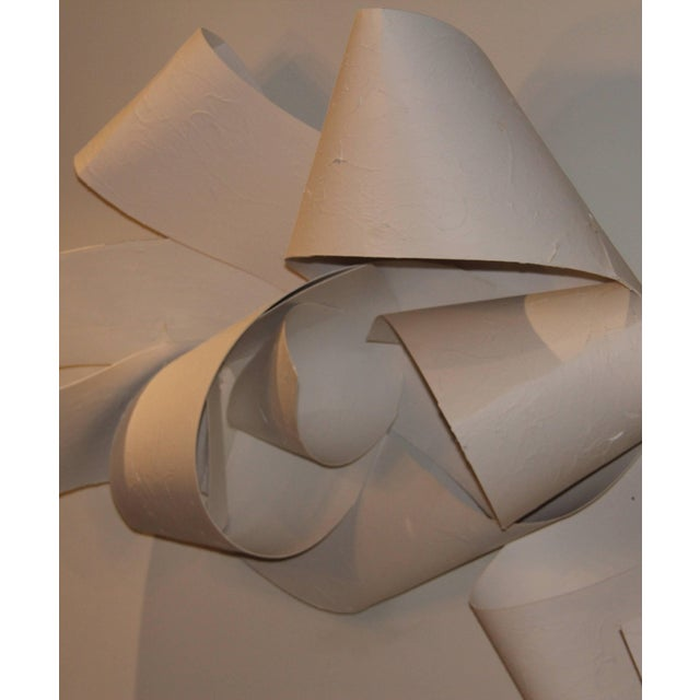Early 21st Century 21st Century White Wall Paper or Plaster Sculpture by Aimee Wise For Sale - Image 5 of 7