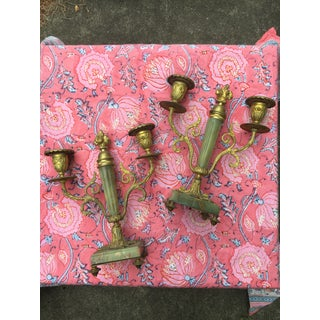 Late 19th Century Brass and Agate Candelabras- A Pair Preview