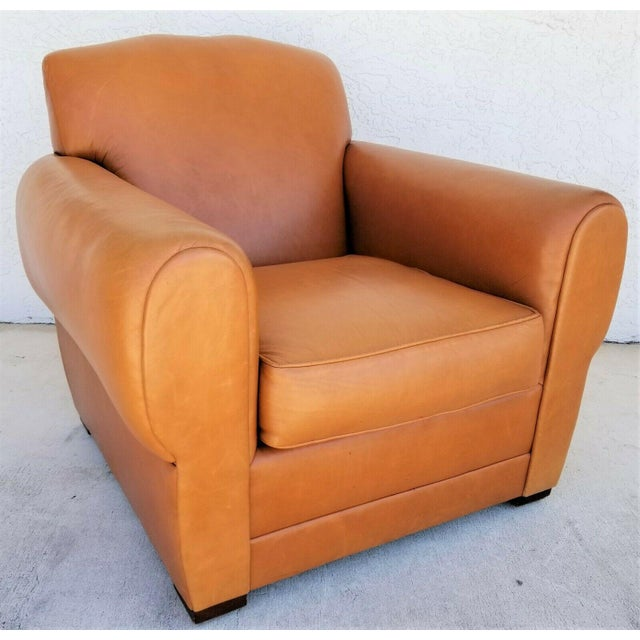 MCM Ralph Lauren Genuine Leather Club Lounge Armchair For Sale - Image 12 of 12