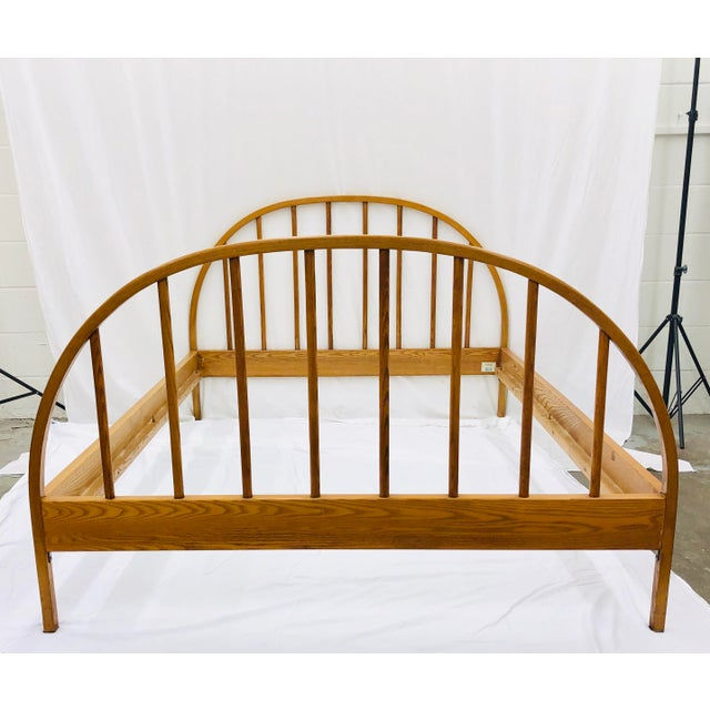 Vintage Mid Century Modern Danish Style Wooden Bed For Sale In Raleigh - Image 6 of 13