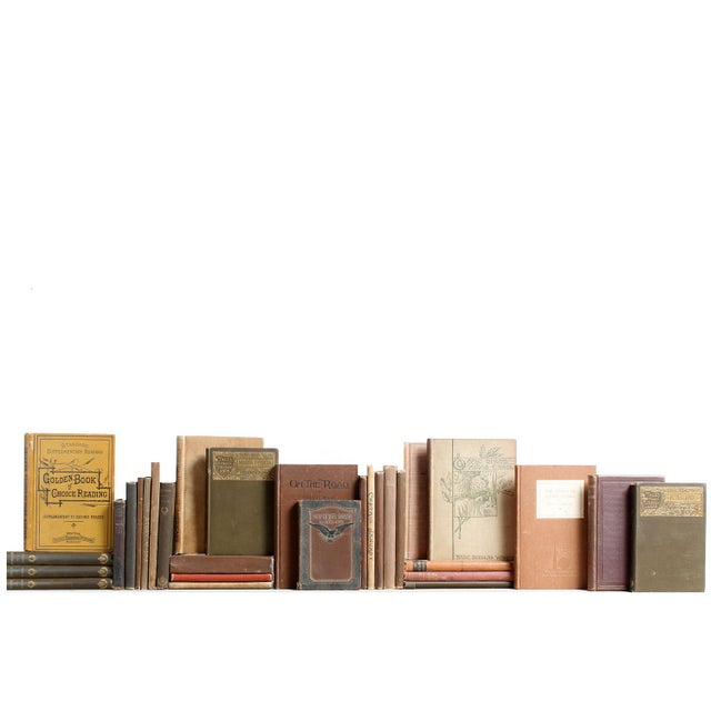 Vintage Tan & Brown Mini Books - Set of 30 - Image 3 of 3