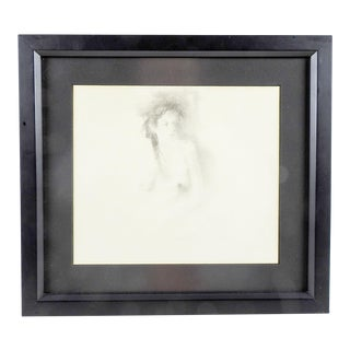 Nude Pencil Portrait For Sale