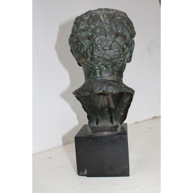 Traditional Bronze Bust by Serge Yourievitch For Sale - Image 3 of 7