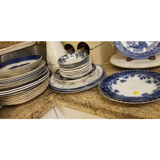 Ceramic Holland Blue and White Maastricht 3 Part Ironstone Plate For Sale - Image 7 of 8