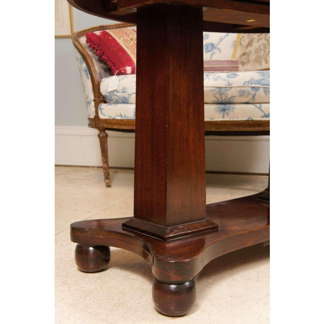 Empire Mahogany Pillar and Scroll Table With One Drawer For Sale In New York - Image 6 of 9