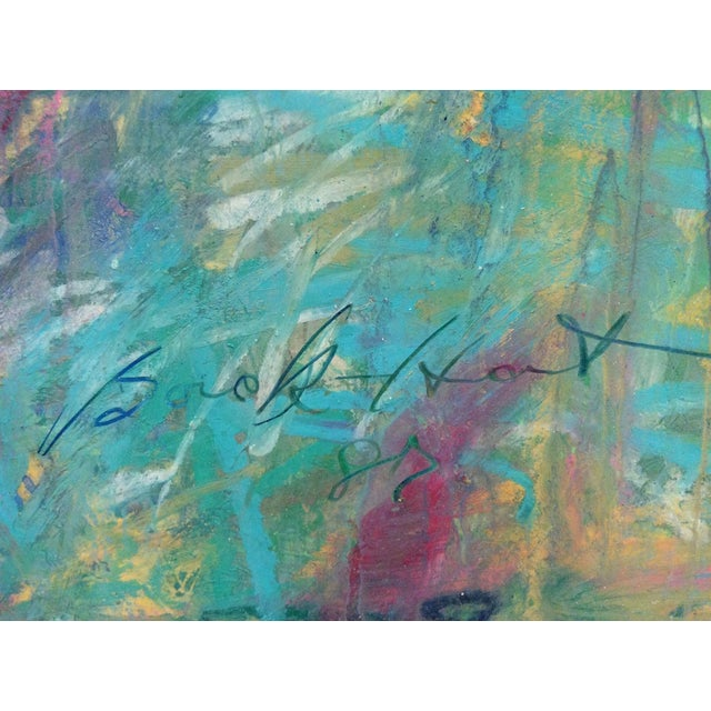 Contemporary Barbara Borck-Hart Oil Pastel - Untitled #1 For Sale - Image 3 of 4