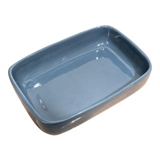 Haeger Pottery Glossy Glazed Minimalist Blue Planter / Catchall For Sale
