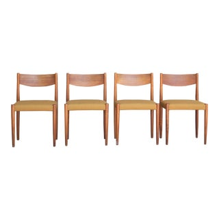 1960s Vintage Danish Modern Teak Dining Chairs- Set of 4 For Sale