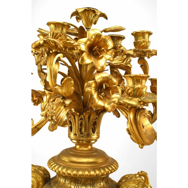 Pair of French Victorian Bronze Doré Urn Shaped Candelabra For Sale In New York - Image 6 of 13