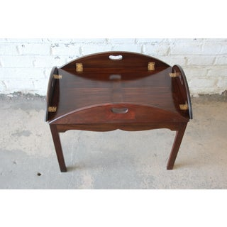 Baker Furniture Mahogany Butler's Tea Table Preview