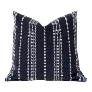 Black Boho Stripe Pillow Cover 18x18 For Sale