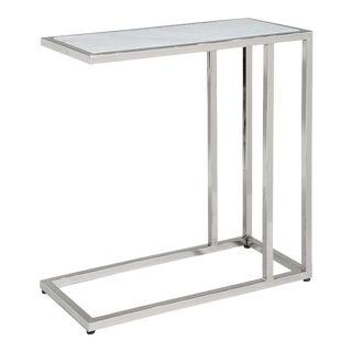 Echelon Sofa Hugger Table in Polished Nickel For Sale